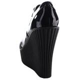 Noir Verni CREEPER-302 chaussures creepers compensées