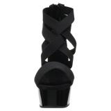 Noir bande élastique 15 cm DELIGHT-669 chaussures pleaser à talon femme