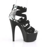 Noir bande élastique 18 cm ADORE-748SP chaussures pleaser à talon femme
