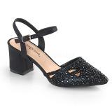 Noir etincelle 7 cm Fabulicious FAYE-06 sandales à talons aiguilles
