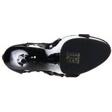 Noir gladiateur 15 cm DELIGHT-682 Sandales Talons Hauts