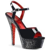 Noir paillettes 15 cm Pleaser KISS-209TTG chaussure à talons de pole dance
