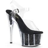 Noir paillettes 18 cm Pleaser ADORE-708G chaussure à talons de pole dance