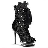 Noir pierre cristal 15 cm FANTASIA-1020 plateforme bottines femmes