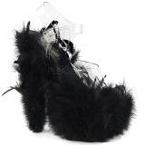 Noir plumes de marabout 18 cm ADORE-708F chaussure de pole dance