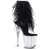 Noir plumes de marabout 20 cm FLAMINGO-1017MFF chaussure de pole dance