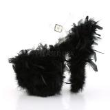 Noir plumes de marabout 20 cm FLAMINGO-808F chaussure de pole dance
