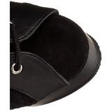 Noir tissu en dentelle 15 cm DELIGHT-2025ML Bottes à Lacets Femmes