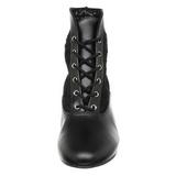 Noir tissu en dentelle 5 cm DAME-05 bottines à lacets femmes
