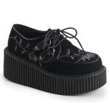 Noirs 7,5 cm CREEPER-219 rockabilly chaussures creepers femmes