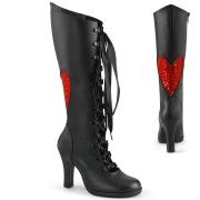 Noirs 9,5 cm GLAM-243 Demonia bottes à lacets femme talon