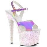 Opale 18 cm UNICORN-711LG chaussures à talons etincelle