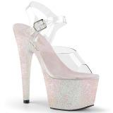 Opale paillettes 18 cm Pleaser ADORE-708HMG chaussure à talons de pole dance