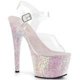 Opale paillettes 18 cm Pleaser ADORE-708LG chaussure à talons de pole dance