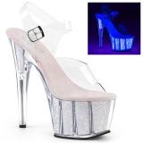 Opale paillettes 18 cm Pleaser ADORE-708UVG chaussure à talons de pole dance
