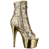 Or 18 cm ADORE-1008SQ bottines a paillettes pour femmes