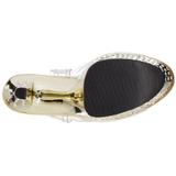 Or 18 cm Pleaser STARDUST-708 Talons Aiguilles Chrome Plateforme