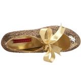 Or Etincelle 14,5 cm Burlesque TEEZE-10G Platform Escarpins Chaussures