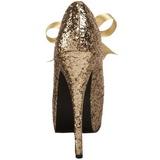 Or Etincelle 14,5 cm TEEZE-10G Platform Escarpins Chaussures