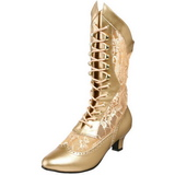 Or Mat 5 cm FUNTASMA DAME-115 Retro Bottines Hautes