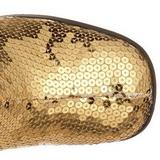 Or Paillettes 8 cm SPECTACUL-300SQ Bottes Femmes