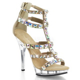Or Pierres Strass 13 cm LIP-158 Chaussures Talon Haut