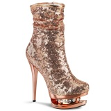 Or Rose Paillettes 15,5 cm BLONDIE-R-1009 pleaser bottines à plateforme