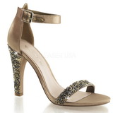 Or Strass 11,5 cm CLEARLY-436 Sandales de Soirée a Talon