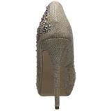 Or Strass 13 cm DESTINY-06R Talons Aiguilles Escarpins