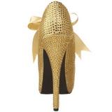 Or Strass 14,5 cm Burlesque TEEZE-04R Talons Aiguilles Escarpins