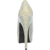 Or Strass 14,5 cm Burlesque TEEZE-06R Talons Aiguilles Escarpins