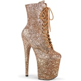 Or rose glitter 20 cm FLAMINGO-1020GWR exotic bottines de pole dance