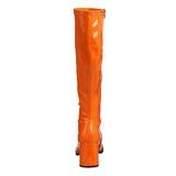 Orange Verni 7,5 cm Funtasma GOGO-300 Bottes Femmes