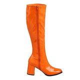Orange Verni 8,5 cm Funtasma GOGO-300 Bottes Femmes