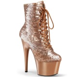 Paillettes Dorée 18 cm ADORE-1020SQ bottines plateforme de pole dance