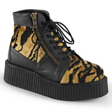 Peau 5 cm CREEPER-571 Bottines Creepers Hommes Plateforme