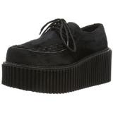 Peau 7,5 cm CREEPER-202 chaussures creepers femmes semelles épaisses