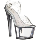 Pierre strass 18 cm SKY-308SD Plateforme Chaussures Talon Haut