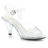 Pierre strass 8 cm BELLE-308SD chaussures travesti