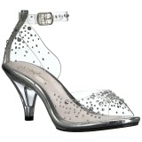 Pierre strass 8 cm BELLE-330RS chaussures travesti