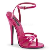 Pink 15 cm Devious DOMINA-108 sandales à talons aiguilles