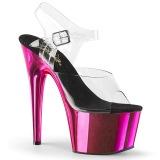 Pink 18 cm ADORE-708 Chrome Plateforme Talons Hauts