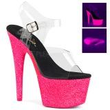 Pink 18 cm ADORE-708UVG Plateforme Neon Sandales Femmes