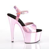 Pink 18 cm ADORE-709HGCH Hologramme talons avec plateforme