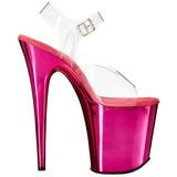 Pink 20 cm FLAMINGO-808 Chrome Plateforme Talons Hauts