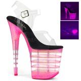 Pink 20 cm FLAMINGO-808UVLN Plateforme Neon Sandales Femmes