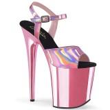 Pink 20 cm FLAMINGO-809HG talons hauts pleaser plateforme