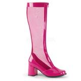 Pink 8,5 cm GOGO-307 bottes filet pour femmes a talon