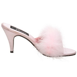 Pink 8 cm AMOUR-03 plumes de marabout Mules Chaussures