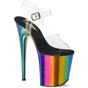 Plateforme arc en ciel 20 cm FLAMINGO-808RC chaussures de pole dance